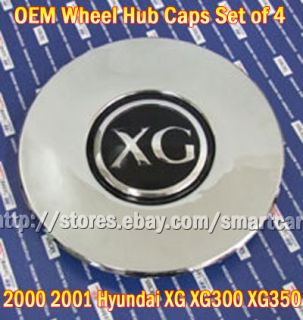 2000 2001 Hyundai Grandeur XG XG300 XG350 Wheel Hub Caps Set of 4