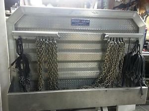 Semi Truck Headache Rack w Chains and Binders Kenworth Peterbilt