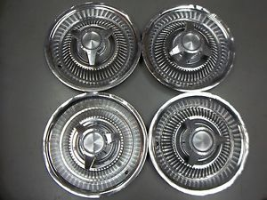 "1964 Pontiac Catalina Grand Prix 14"" Spinner Hubcaps Wheel Covers Set of 4 Y11"