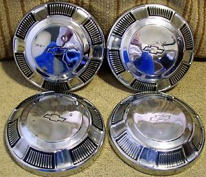 "Hubcaps Wheel Covers 1969 1970 Chevrolet Dog Dish Poverty Hubcaps 10 1 4"" AZB"