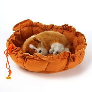New Small Medium Pink Pumpkin Soft Pet Dog Cat Bed Indoor House Nest Kennel