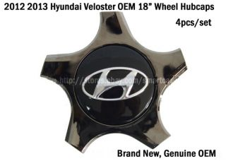 2012 2013 Hyundai Veloster Veloster Turbo 18 inch Wheel Hub Caps Set of 4
