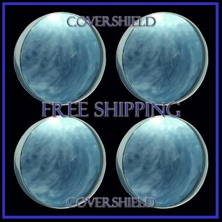 "4 PC Set 10 3 16"" Chrome Steel Baby Moon Hubcaps Wheel Covers Center Caps"