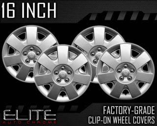 "2000 2008 Ford Taurus 16"" Silver Clip on Hubcaps"