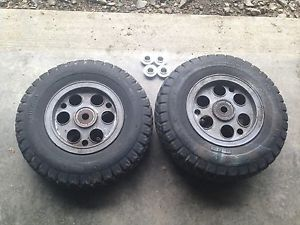 Minibike Rims Wheels Old School Vintage Rupp Bonanza Mini Bike Pair Sprocket 6""