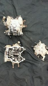 02 Kawasaki Prairie 650 Engine Cylinder Heads Front and Back Both Parts Only