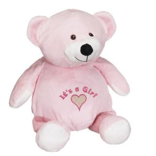 New Personalized Pink Teddy Bear Baby Announcement It's A Girl Gift Name Toy
