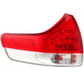 11 12 Toyota Sienna Outer Taillight Taillamp Rear Brake Light Driver Left LH
