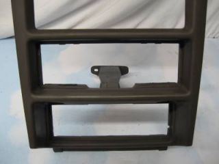 "99 00 Ford Mustang AC Radio Dash Trim Bezel ""Parchm Blk"" 2001 2002 2003 2004"