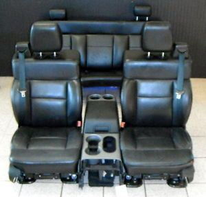 04 05 06 07 08 Ford F150 FX4 Supercab Interior Front Rear Black Leather Seats