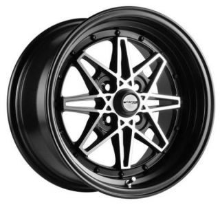 "Stance Emotion Black 15x8 25 4x100 Wheels Rim 15""Honda"