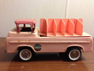 Vintage Nylint 1960's Ford Kennels Pressed Steel Truck Pink No 6200