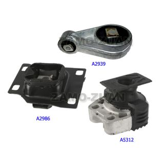 03 04 Ford Focus 2 3 Engine Motor Trans Mount Kit 3pcs A5312 A2939 A2986