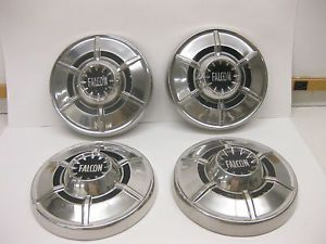 1964 1965 1966 1967 68 69 Ford Falcon Dog Dish Hubcaps Good Hard to Find 4