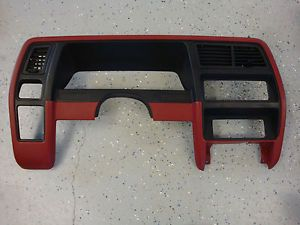 1990 Ford Ranger Radio Dash Bezel Red AC Vents