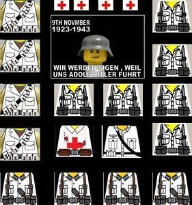 Lego WW2 German Soldier Decals Battle of The Bulge
