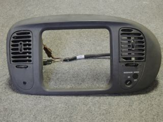 F150 Radio Dash Bezel Trim Gray Ford Expedition 97 98 99 00 01 02 355