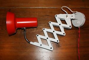 Vtg Mid Century Modern Scissor Lamp SIS German Design Industrial Wall Light