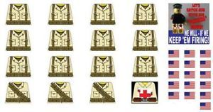 Lego WW2 American Soldiers Sticker Decals EXTRAS