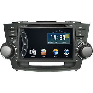 "8"" Car GPS DVD Player Bluetooth Radio iPod A2DP for Toyota Highlander 2008 2011"