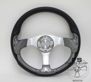 "Yamaha Rhino 14"" inch Steering Wheel Black Carbon New Performance I"