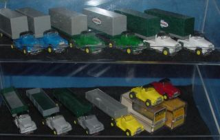 Aurora HO Vibrator Vibe Slot Car Semi Truck Collection Vibro Tractors Trailers
