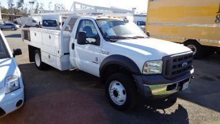 07 Ford F450 F 450 Utility Truck Service Contractor Bed Diesel 2WD GMC F350 F550