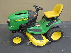 "2003 John Deere L130 48"" Riding Mower Lawn Tractor 23hp Kohler Engine"