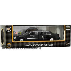Luxury Diecast 1 43 2009 Cadillac Presidential Limousine Opening Doors Car Black