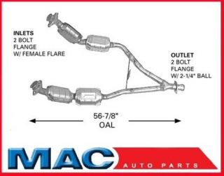 96 1998 Ford Mustang V6 Catalytic Converter