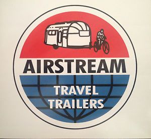 Vintage Airstream Travel Trailers Decal Sticker RV Car motorhome Byam Camp Trail