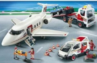 New Playmobil Transport Set w Airplane Tow Truck Van SUV 5 Figures 5207