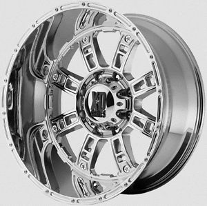 "22"" KMC XD Riot 76mm Chrome Wheels Tires Hummer H3 2006 2007 2008 2009"