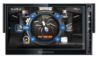 "Soundstream SNX731 7"" Single DIN Car DVD Player GPS Navigation Bluetooth Monitor"