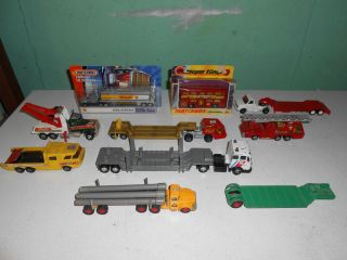 Huge Lot of Matchbox King Size Diecast Vehicles Trailers Schammel Contractor