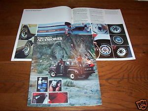 1979 Ford Pickup Truck Bronco Econoline Van etc Accessories Brochure Catalog
