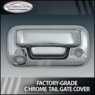 04 13 Ford F150 Chrome Tail Gate Handle Cover Camera Cutout
