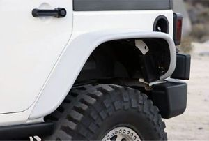 07 14 Jeep Wrangler Unlimited 4DR Xenon Urethane Flat Panel Rear Fender Flares