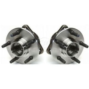 98 00 Ford Ranger Truck 4WD 4x4 w Rear ABS Front Wheel Hub Bearing Pair Set