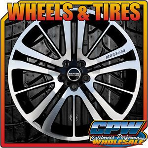 "22"" Range Rover 15 Spoke Wheel and Tire Package Black Mach Toyo Tires New Set 4"