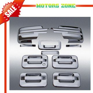 09 12 Ford F150 Chrome Door Handle Tailgate Mirror Covers Caps Set w Signal Cut