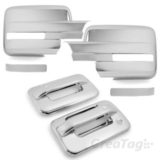04 12 Ford F150 Pickup Truck Chrome Door Handle Mirror Cover Moulding Trim