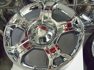 "22"" Ford Harley F150 Chrome 5 Spoke Wheels Replicas New 6 Lug"