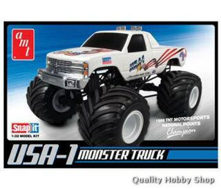 AMT 1 32 Scale USA 1 Chevy Monster Truck Snap Skill 1 Plastic Model Kit 672