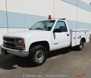 Chevrolet 2500 Utility Pickup Truck 3600 PSI CNG Duel Fuel 5 7L V8 Enclosed Bed