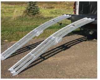 "New Yutrax TX107 Aluminum 89"" Lightweight Heavy Duty Folding Truck Utility Ramp"