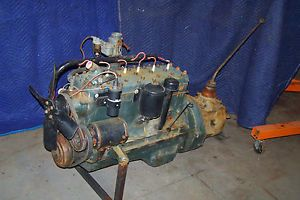 1946 Ford 6 Cylinder Flathead Engine and 4 Speed Transmission Complete