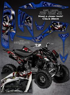 "Yamaha Raptor 350 Graphics Decals ""The Evil Jester"""