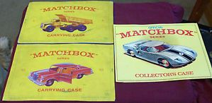 "1965 Fred Bronner 1968 Lesney Products "" Matchbox "" Car Carry Case Mat Lot"