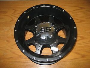 ITP SS108 Black ATV Wheels Rims Black 12 x 7 4 156 Sportsman Ranger RZR 57 40039